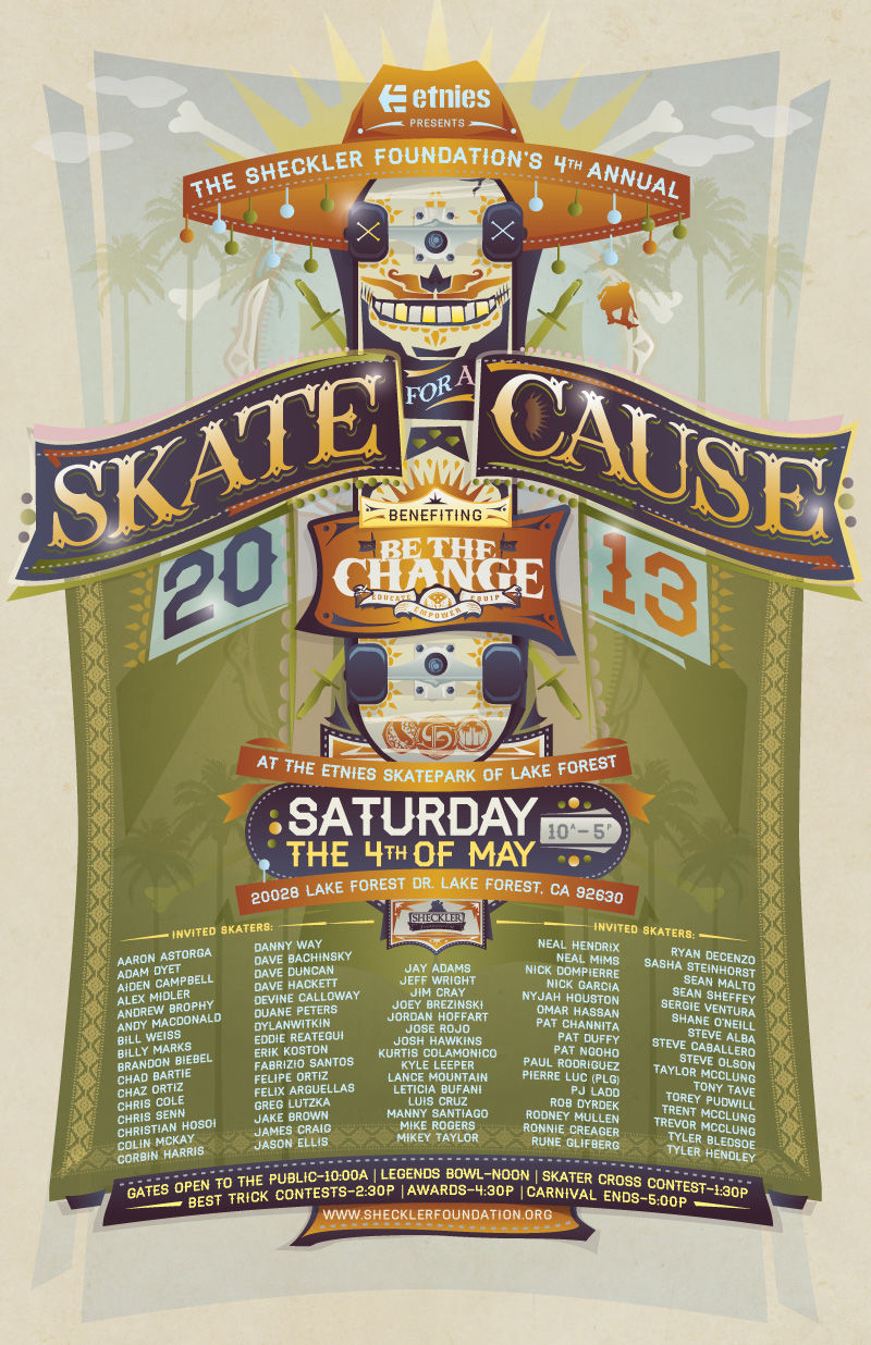 ETNIES presents The Sheckler Foundation's 4th Annual SKATE FOR A CAUSE